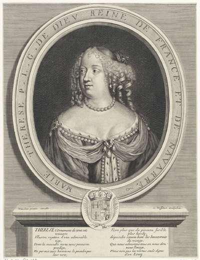 Portret van Maria Theresia, koningin van Frankrijk