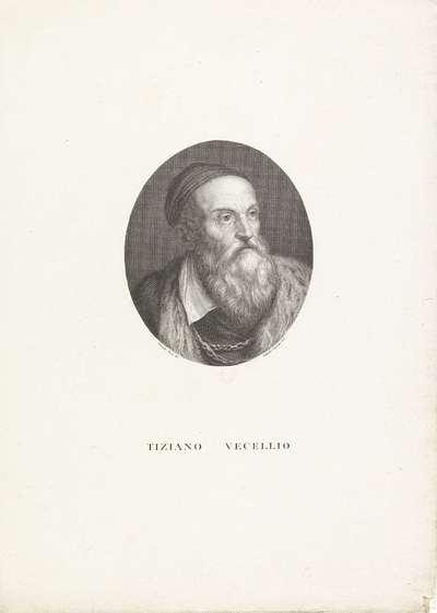 Portret van schilder Titiaan; Portretten van beroemde Italianen in ovalen