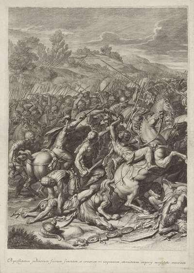 Veldslag tussen Constantijn en Maxentius (linker blad)