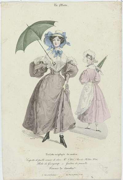 La Mode, 1830, Pl. 59: Toilette négligée du matin (...)