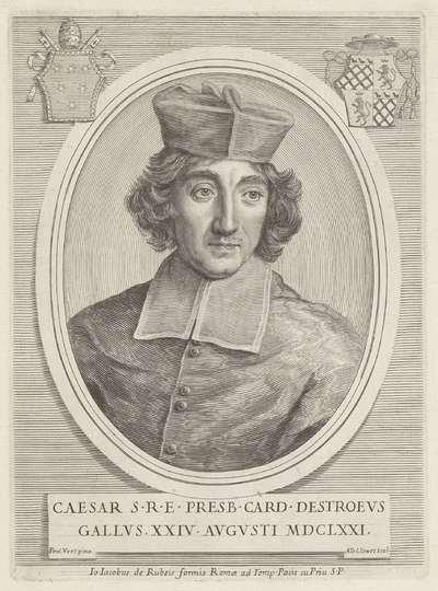 Portret van kardinaal César d'Estrées; Effigies Nomina et Cognomina S.D.N. Alexandri Papae VII et RR. DD. SRE. Cardd (...).