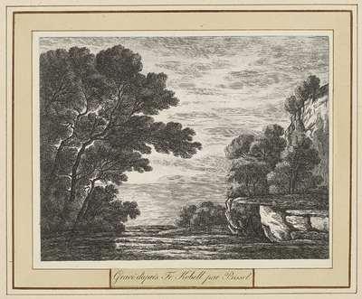 Landschap met gezicht op een meer; Landschappen