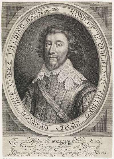 Portret van William Fielding, 1e graaf van Denbigh
