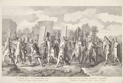 Image from object titled Militaire stoet met oorlogsbuit; Triomftocht van Alexander de Grote in Babylon