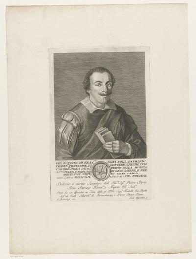 Portret van muziektheoreticus Giovanni Battista Doni
