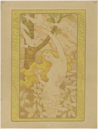 Affiche voor Le livre de Magda door Armand Silvestre