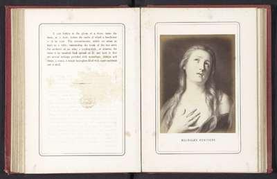 Fotoreproductie van een schilderij van Maria Magdalena door Pietro Rotari; Magdalen Petinent