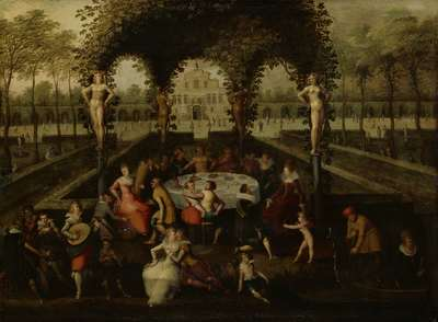 Image from object titled Venus, Bacchus and Ceres with Mortals in a Garden of Love