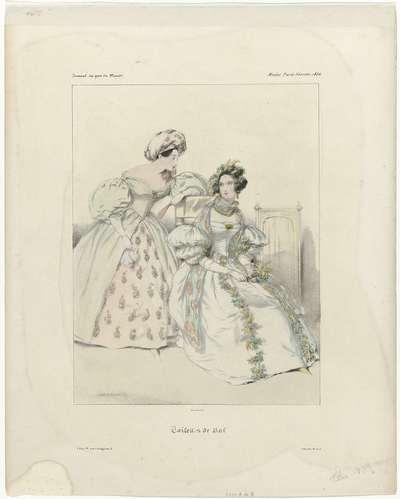 Journal des Gens du Monde, Modes Paris, février 1834 : Toilettes de Bal