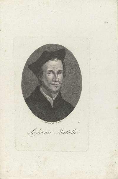 Portret van Lodovico Martelli