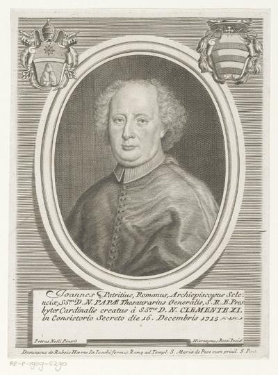 Portret van kardinaal Giambattista Patrizi