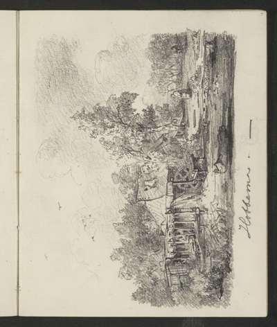 Kopie naar Meindert Hobbema's 'Een watermolen'