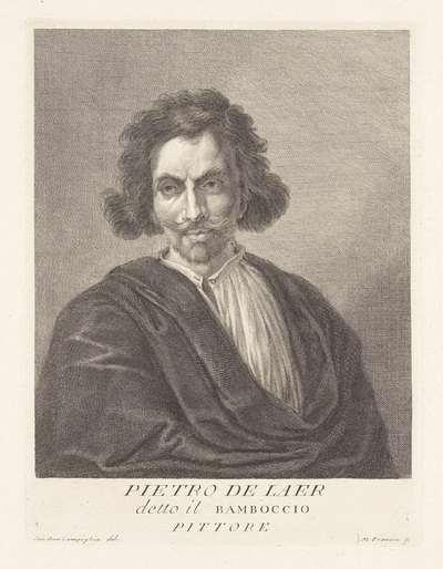 Portret van kunstenaar Pieter Bodding van Laer; Portretten van kunstenaars