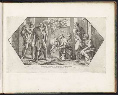 Aanbidding door de herders; Schilderingen in de Loggia van Rafaël; Imagines Veteris ac Novi Testamenti; Rafaël Bijbel