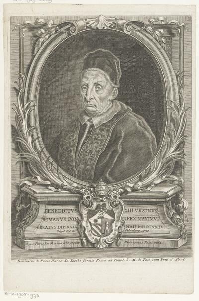 Portret van paus Benedictus XIII