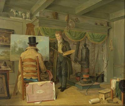 Image from object titled The Artist at his Studio