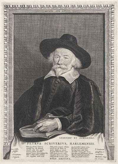Portret van Petrus Scriverius