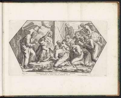 Aanbidding door de koningen; Schilderingen in de Loggia van Rafaël; Imagines Veteris ac Novi Testamenti; Rafaël Bijbel