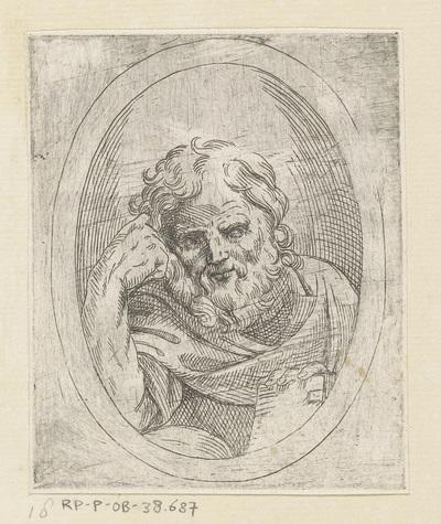 Apostel; Christus, Maria en apostelen gevat in ovalen