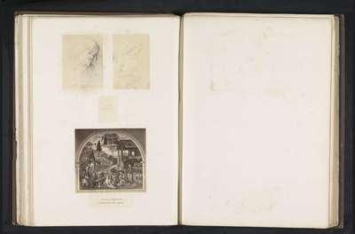 Zes fotoreproducties van een publicatie door de Arundel Society met prenten naar Pinturicchio
