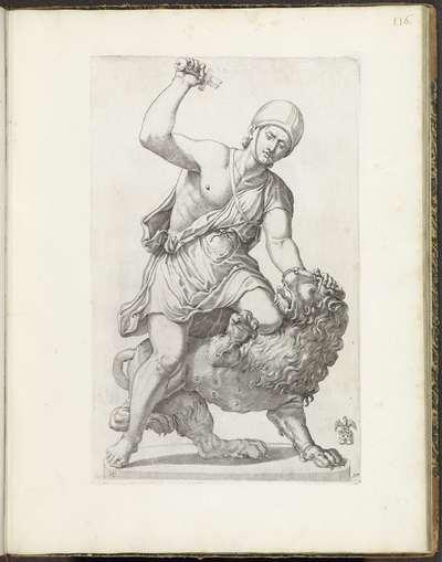 Standbeeld van een gladiator in gevecht met een leeuw; Galleria Giustiniana del Marchese Vincenzo Giustiniani I