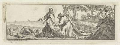 Christus stelt Petrus aan als hoofd van zijn kerk