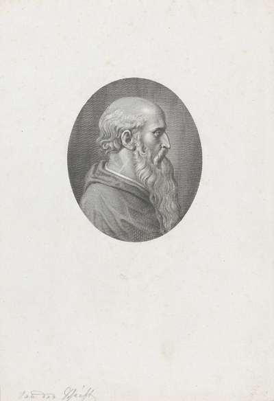 Portret van kardinaal en dichter Pietro Bembo; Portretten van beroemde Italianen in ovalen