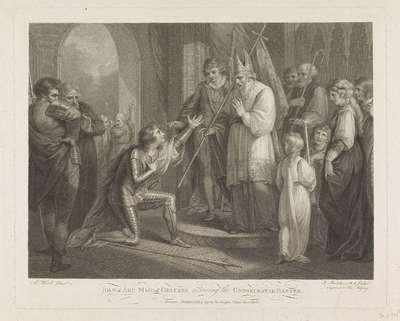 Jeanne d'Arc ontvangt de gewijde banier; Joan of Arc Maid of Orleans receiving the consecrated banner
