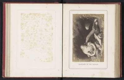 Fotoreproductie van een schilderij van een lezende Maria Magdalena door Pompeo Batoni; Magdalen in the desert