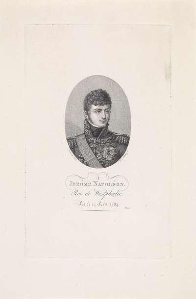 Portret van Jerome Bonaparte (koning van Westfalen)