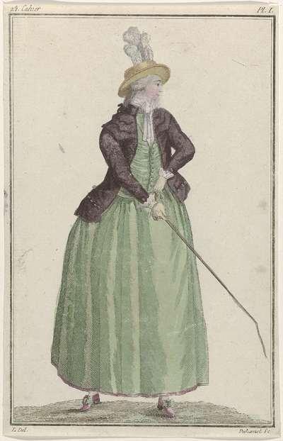 Cabinet des Modes ou les Modes Nouvelles, 15 septembre 1786, Pl. I