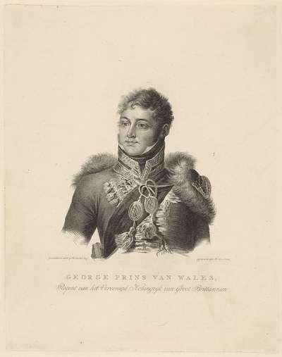 Portret van George IV (koning van Groot-Brittanië en Hannover)