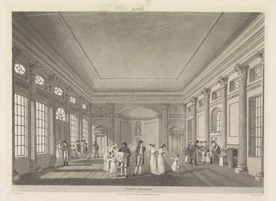 Interieur van de Pump Room te Bath; Pump-Room