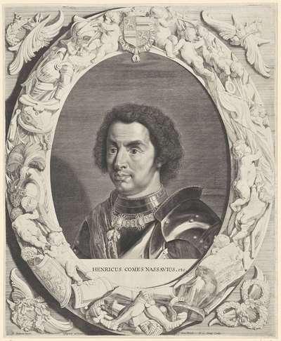 Portret van Hendrik III, graaf van Nassau- Breda; Comites Nassoviae