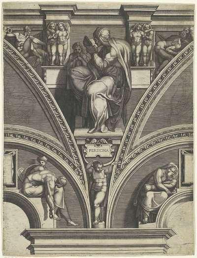 De Perzische Sibille; Schilderingen in de lunetten boven de ramen in de Sixtijnse Kapel
