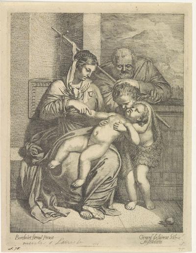 Image from object titled De Heilige Familie met Johannes de Doper
