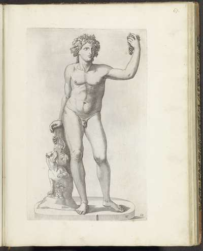 Standbeeld van Bacchus met tijger; Galleria Giustiniana del Marchese Vincenzo Giustiniani I