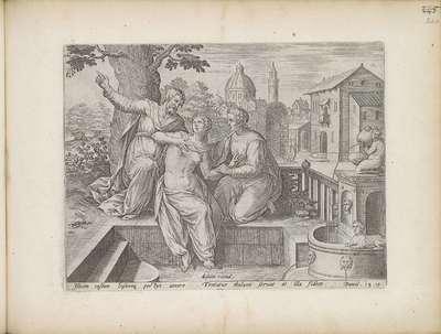 Susanna en de ouderlingen; Geschiedenis van Susanna; Theatrum Biblicum Hoc Est Historiae Sacrae Veteris et Novi Testamenti Tabulis Aeneis Expressae