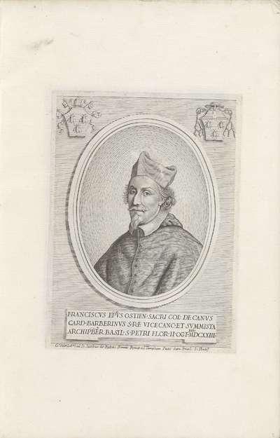 Portret van kardinaal Francesco Barberini; Effigies Nomina et Cognomina S.D.N. Alexandri Papae VII et RR. DD. SRE. Cardd (...).