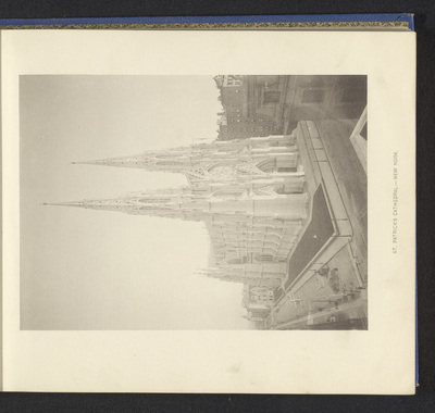 Image from object titled Gezicht op Saint Patrick's Cathedral in New York; St. Patrick's Cathedral - New York