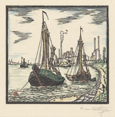 Image from object titled Aangemeerde vissersboten