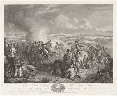 Image from object titled Slag bij Waterloo, 1815; Battle of Waterloo, on the 18th of June, 1815