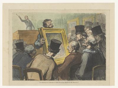 Veiling in Hôtel Bouillon; Les amateurs de tableaux à l'hôtel Bouillon
