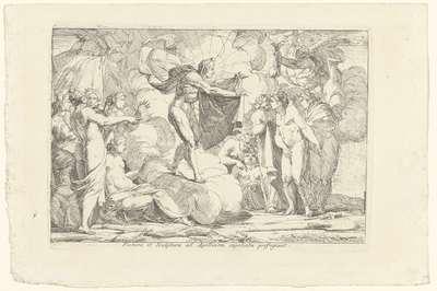 De Schilderkunst en Beeldhouwkunst zoeken hun toevlucht bij Apollo