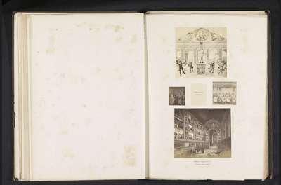 Vijf fotoreproducties van een publicatie door de Arundel Society met schilderingen van Giotto en Perugino
