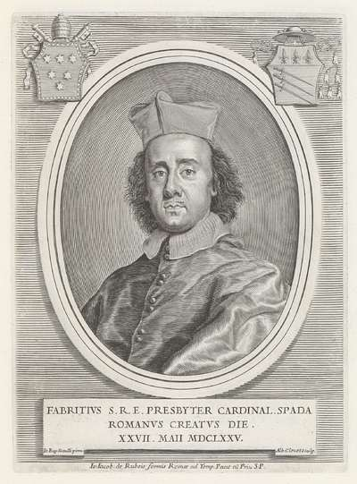 Portret van kardinaal Fabrizio Spada; Effigies Nomina et Cognomina S.D.N. Alexandri Papae VII et RR. DD. SRE. Cardd (...).