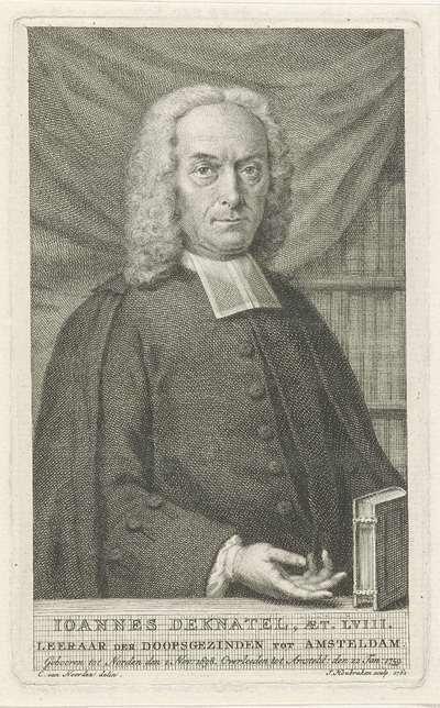 Portret van Joannes Deknatel; Ioannes Deknatel