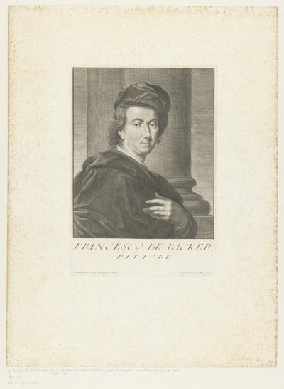 Portret van schilder Johannes Frans de Backer; Portretten van kunstenaars