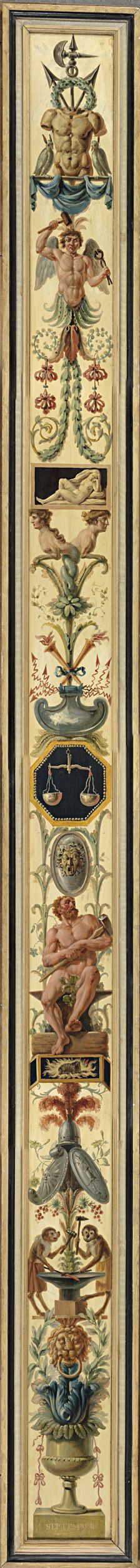 Image from object titled September, with the Sign of Libra