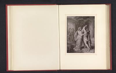 Fotoreproductie van een tekening, voorstellende Orestes en Iphigeneia